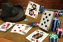 Wild West Poker game assets.