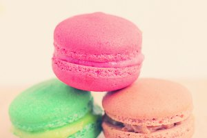 Sweet colorful macaroons