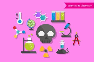 Science and Chemistry Flat Design