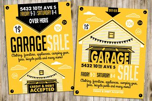 Garage Sale Flyer Poster(2)