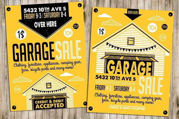 Garage Sale Flyer Poster2