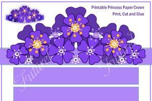 Blue flower crown for girls .
