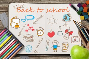 Back to school, vector kit