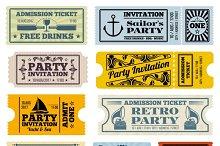 Retro party, cinema tickets