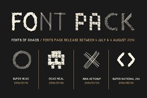 The Fantastic 4 Fonts - Pack.