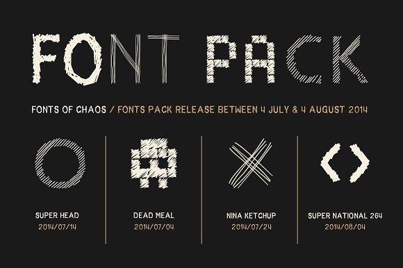 The Fantastic 4 Fonts - Pack. - Sans Serif