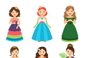 Little princess girls with tiaras
