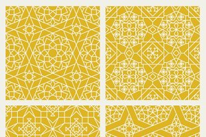 Seamless mosaic oriental patterns