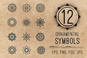 Ornamental logo geometric symbols