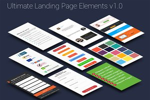 Ultimate Landing Page Elements PSD