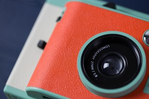 Retro orange camera