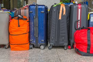 large suitcases rucksacks