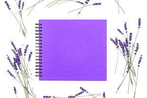Book cover Lavender flowers