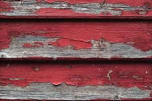 Red painted wood boards