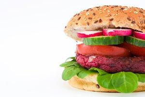 Vegan beetroot burger