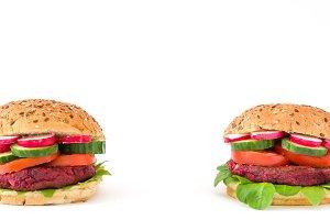 Vegan beetroot burgers
