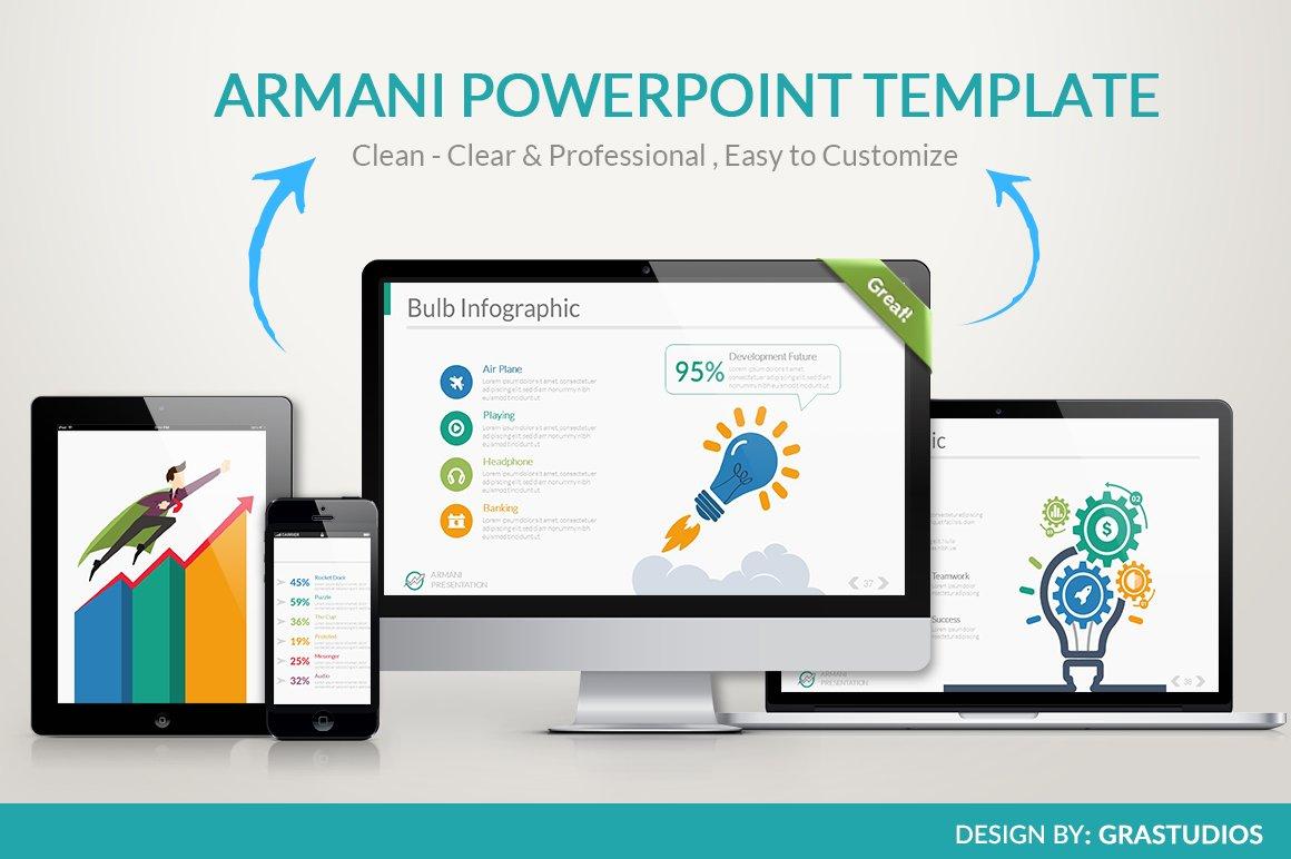 Armani powerpoint template presentation templates creative market toneelgroepblik Image collections