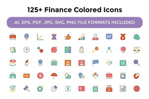 125+ Finance Colored Icons