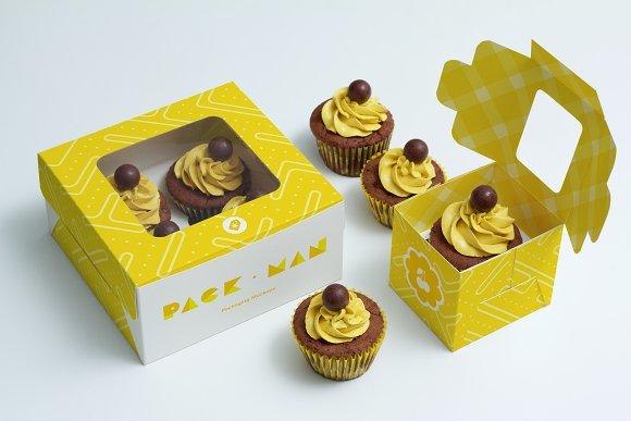Cake Design Programs Download Free : Cupcake Boxes Mockup ~ Product Mockups ~ Creative Market