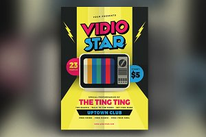 Video Star Music Flyer