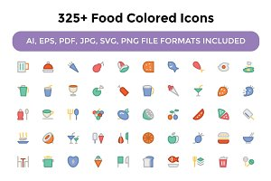 325+ Food Colored Icons