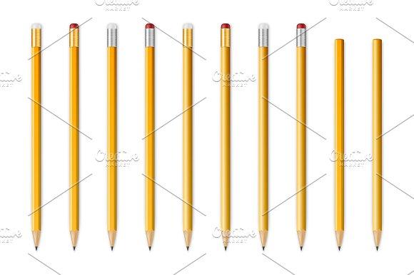 Wooden sharp pencils. Big set. - Objects