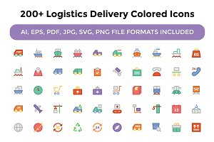 200+ Logistics Delivery Colored Icon