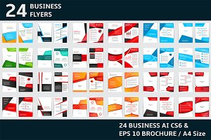24 Simple business fliers