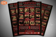 Certified Underground Flyer Template