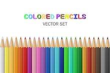 Vector colored pencils.