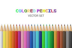 Vector colored pencils.
