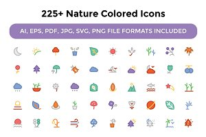 225+ Nature Colored Icons