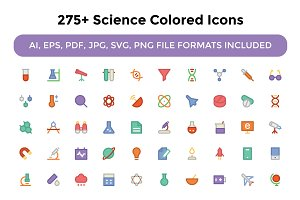 275+ Science Colored Icons