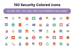 150 Security Colored Icons