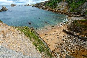 Ocean coastline landscape.