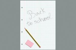 Written gridded sheet