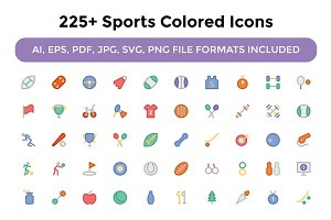 225+ Sports Colored Icons