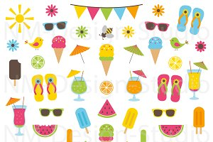 Summer Clipart Set - Vector Graphics