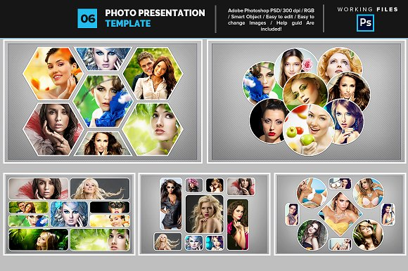 Photo collage template 06 graphics creative market photo collage template 06 maxwellsz