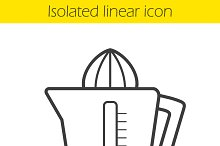 Juicer linear icon. Vector