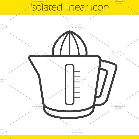 Juicer linear icon. Vector - Icons