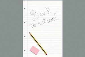 Written lined sheet