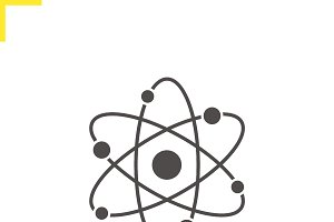 Atom structure icon. Vector