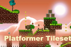 Platformer tileset 1: toon