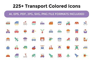 225+ Transport Colored Icons