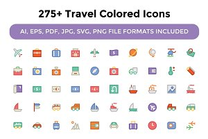 275+ Travel Colored Icons