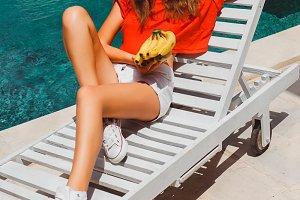 girl banana hipster