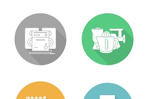 Consumer electronics icons. Vector