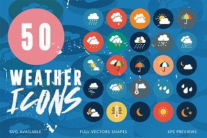 50 Weather Icons