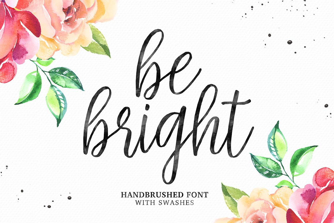 Be bright swashes script fonts creative market kristyandbryce Choice Image